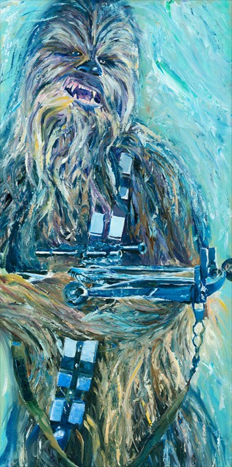 William Silvers The Great Chewbacca Giclee On Canvas