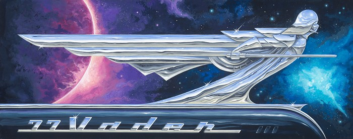 Mike Kungl77 VaderGiclee On Canvas
