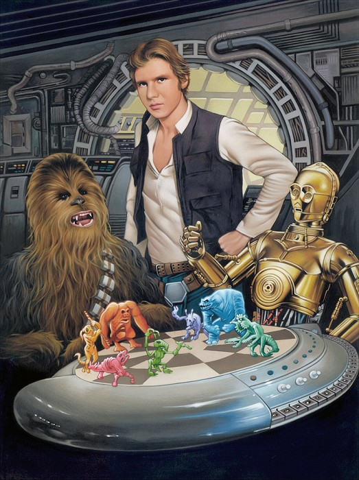 Dave Nestler Let The Wookiee Win Giclee On Canvas
