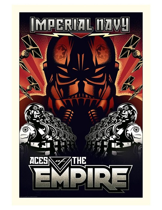 Mike Kungl Aces of the Empire - Large From Lucas Films Star Wars Giclee On Canvas