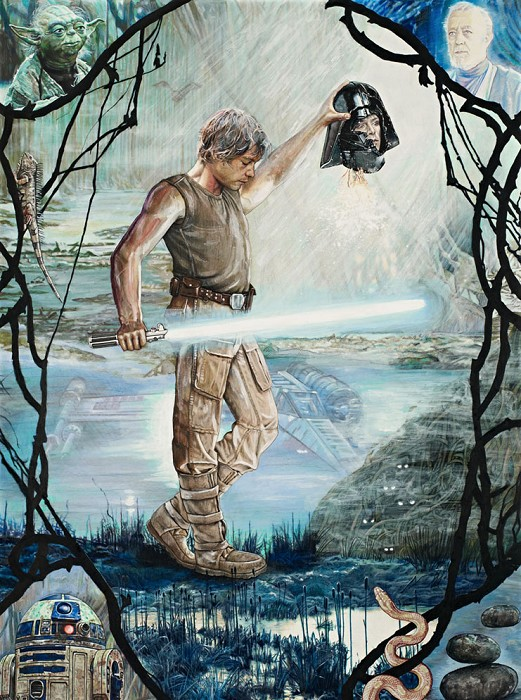 Jon Marro Perseus Skywalker Giclee On Canvas