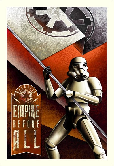 Mike Kungl Empire Before All From Lucas Films Star Wars Giclee On Canvas