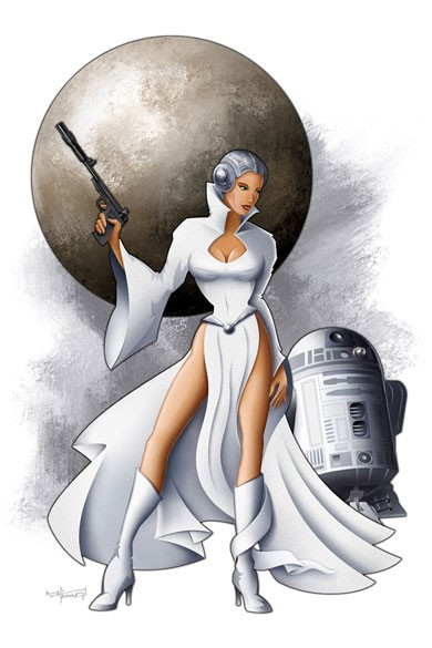 Mike Kungl Leia From Lucas Films Star Wars Giclee On Canvas