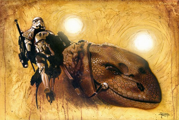 Brian Rood Dewback Giclee On Canvas