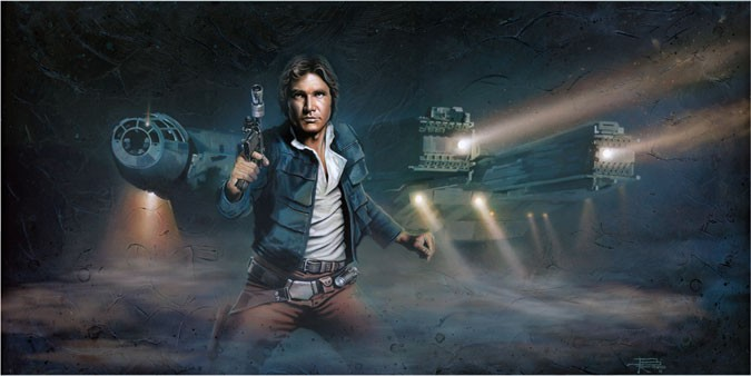 Brian Rood Solo From Lucas Films Star Wars Printers Proof Giclee On Canvas