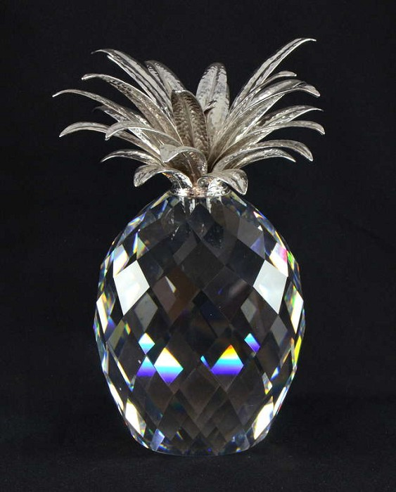 Swarovski Crystal Giant Pineapple Silver