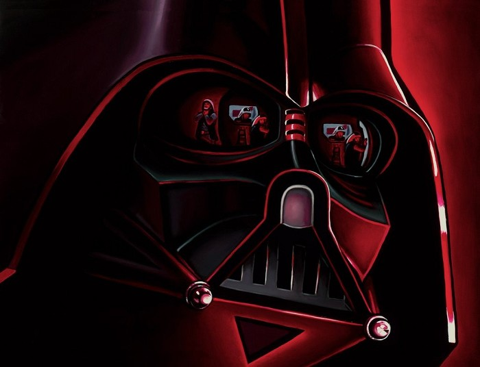 Christian Waggoner Lord Vader Giclee On Canvas