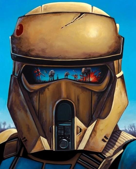 Christian WaggonerShowdown on ScarifGiclee On Canvas