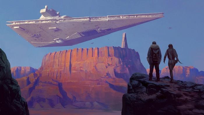 Cristi BalanescuA Looming Presence From Star WarsGiclee On Canvas