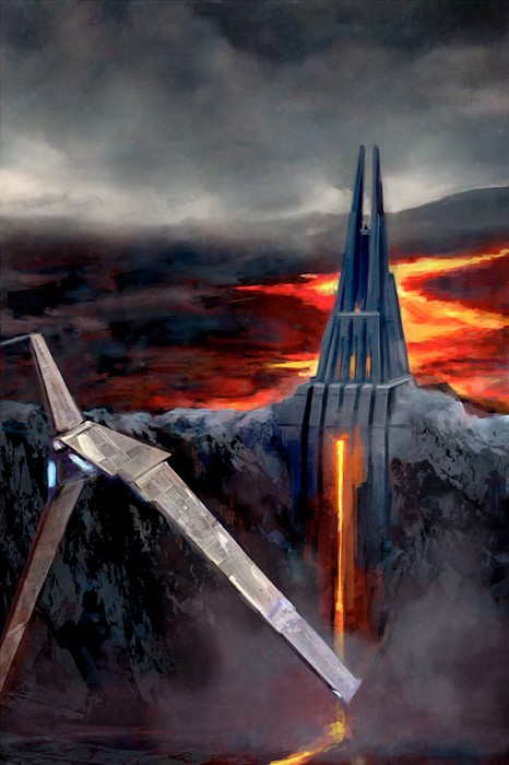 Cliff Cramp Fortress of Mustafar Giclee On Canvas