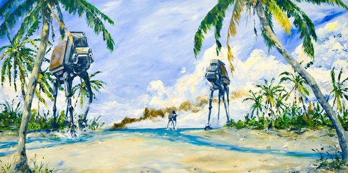 Kim Gromoll AT-ACT on the Shore Giclee On Canvas