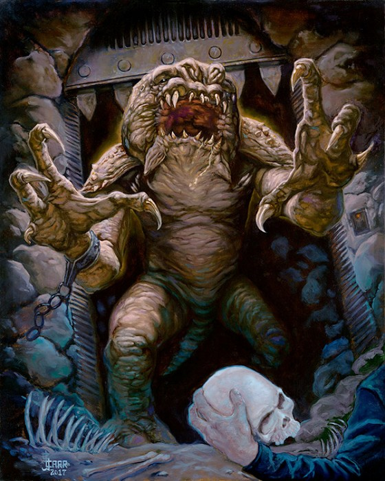 Jaime Carrillo Rancor's Demise Giclee On Canvas