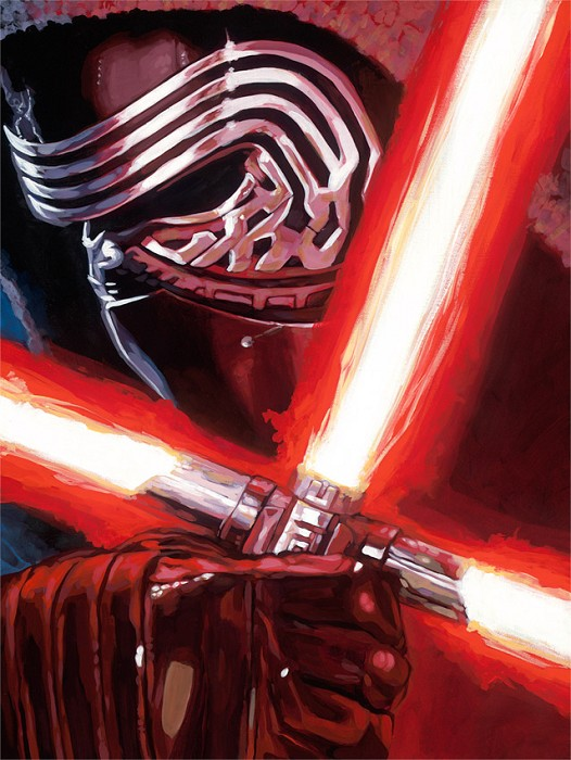 Randy Martinez Dark Warrior Kylo Ren Giclee On Canvas