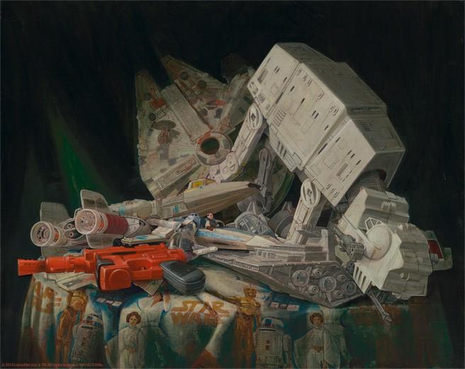 Peter FerkStuff That Dreams From Lucas Films Star WarsGiclee On Canvas