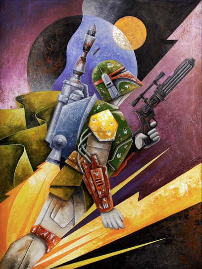 Mike Kungl The Hunter From Lucas Films Star Wars Giclee On Canvas