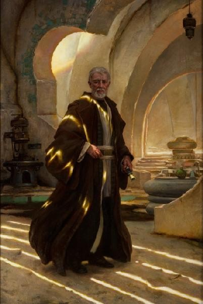 Donato GiancolaObi-Wan Kenobi From Lucas Films Star WarsGiclee On Canvas