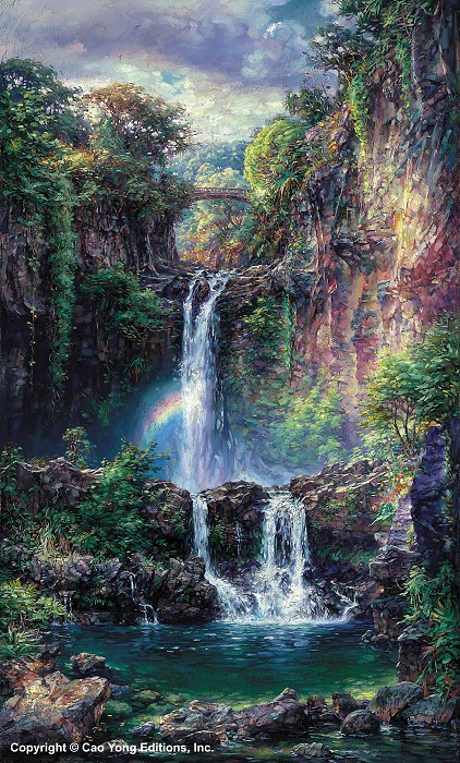 Cao Yong Sacred Pools Giclee On Canvas The Hawaii Series