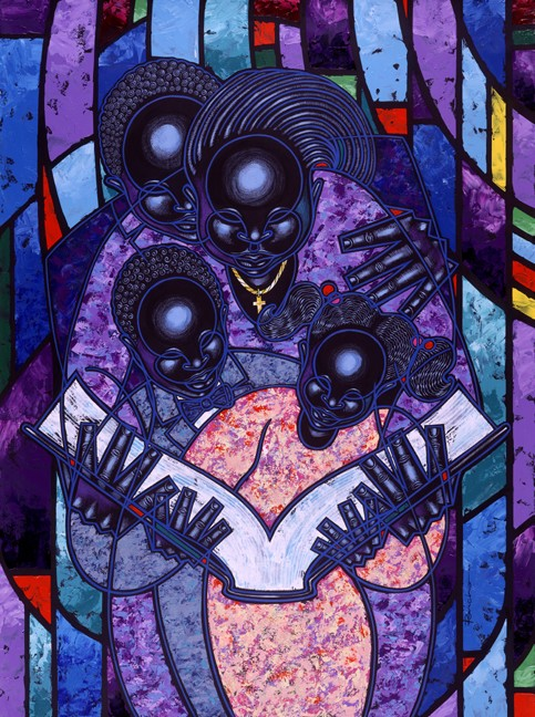 Larry Poncho Brown Spiritual Realm   Giclee  Re 12