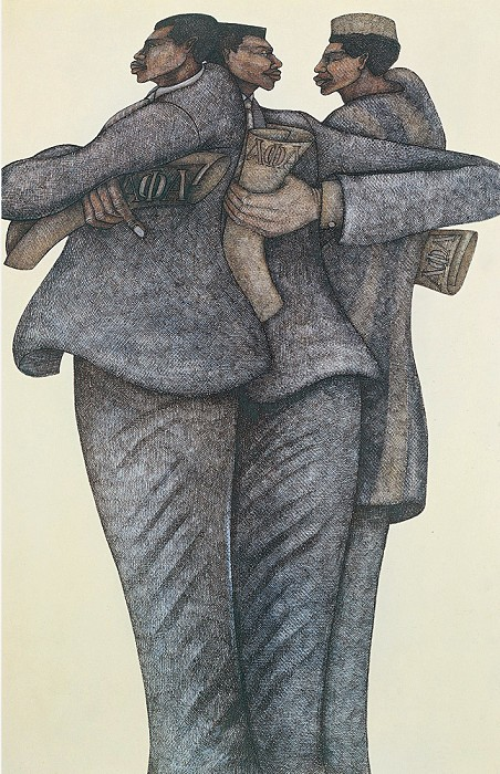 Charles Bibbs Strong Men Limited Edition Giclee On Paper