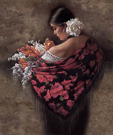 Lee Bogle Summer Fragrance II Artist Proof Hand Enhanced Giclee On Canvas