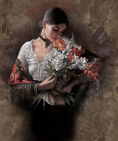 Lee Bogle Summer Fragrance I Giclee On Canvas