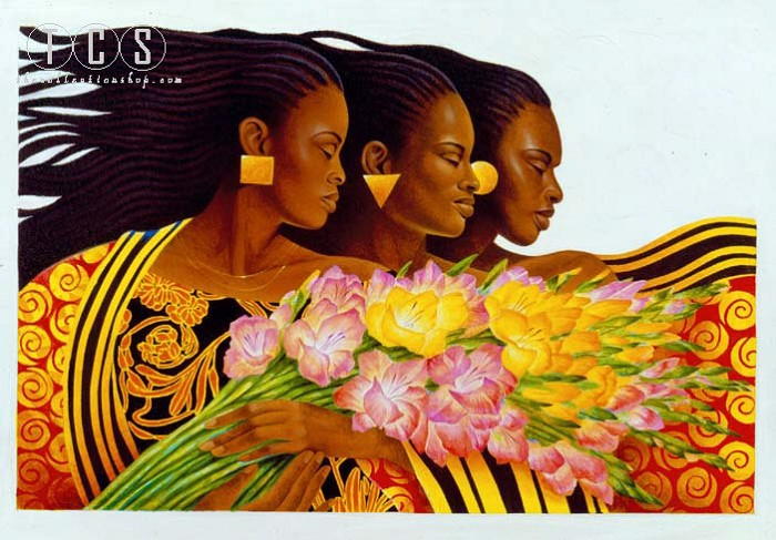 Keith Mallett Three Sisters Remarque