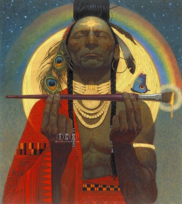 Thomas BlackshearIndian Paint Brush Giclee On Canvas