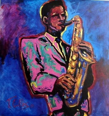Ted Ellis Contempo Jazz Lithograph