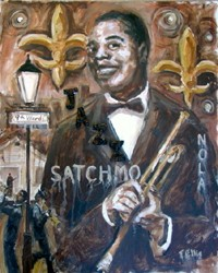 Ted Ellis Satchmo Jazz Giclee On Paper