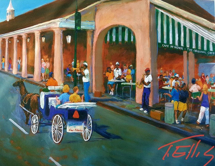 Ted Ellis Sweet on the Big Easy Giclee On Paper