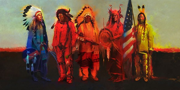 R. Tom Gilleon Men of Honor Canvas