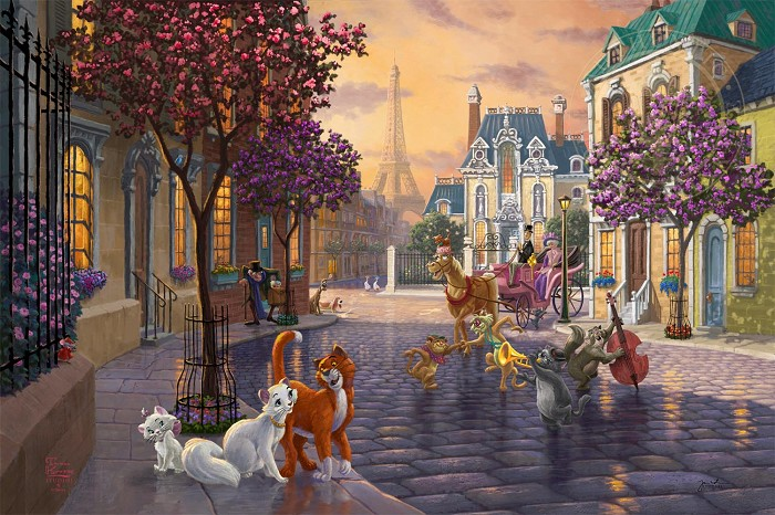 Thomas Kinkade Disney The Aristocats Giclee On Paper