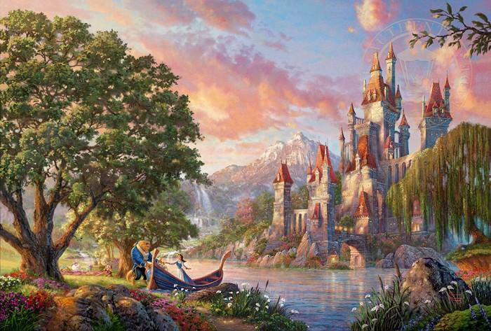 Thomas Kinkade DisneyBeauty and the Beast IIGiclee On Canvas