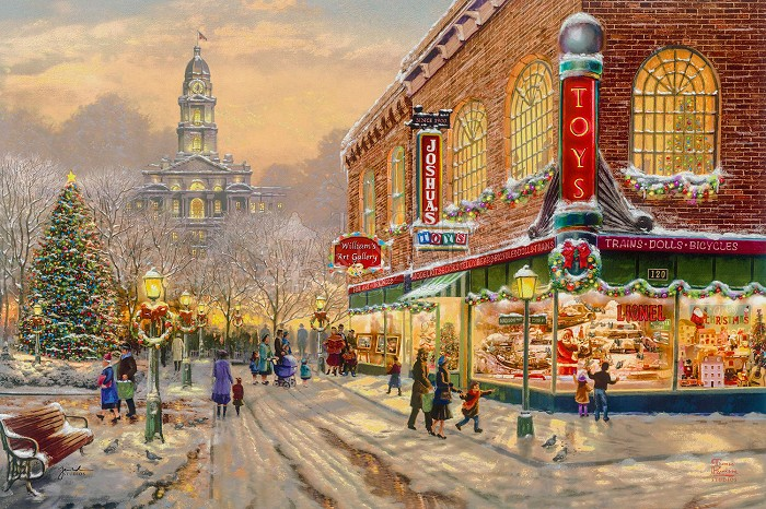 Thomas Kinkade A Christmas Wish Giclee On Canvas Artist Proof