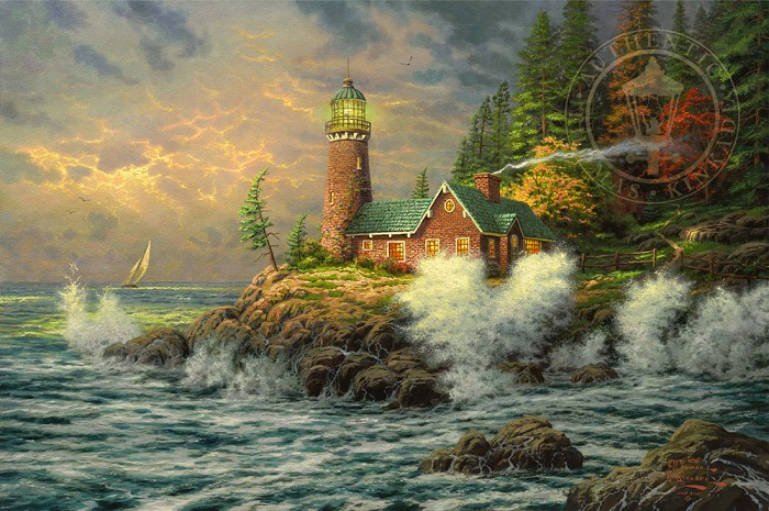 Thomas KinkadeCourageGiclee On Canvas