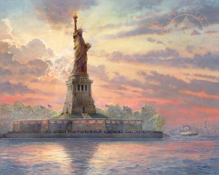 Thomas KinkadeDedicated to LibertyGiclee On Canvas