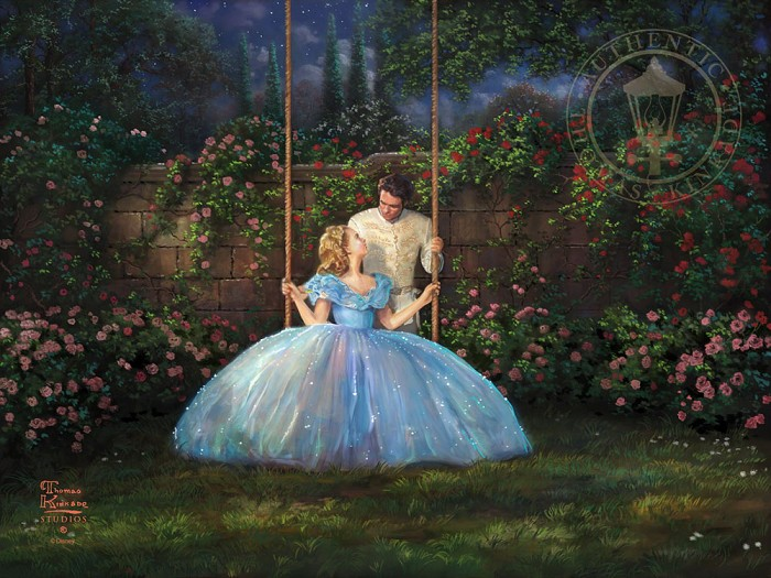 Thomas Kinkade Disney Dreams Come True Giclee On Paper