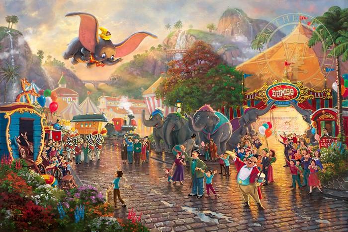Thomas Kinkade DisneyDumboGiclee On Paper