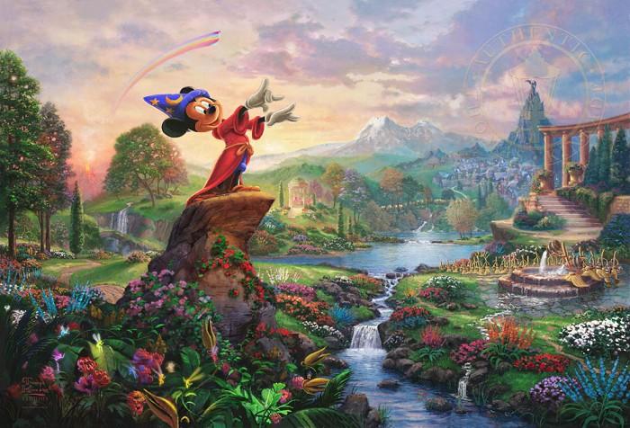 Thomas Kinkade DisneyFantasiaGiclee On Canvas Artist Proof
