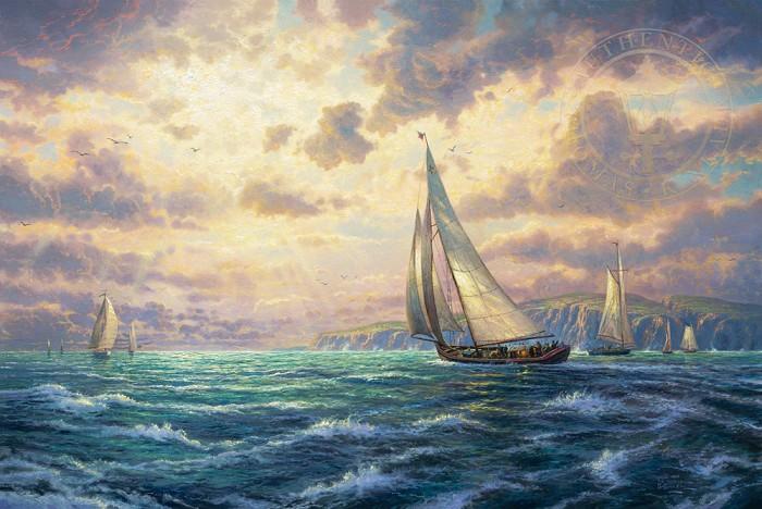 Thomas KinkadeNew HorizonsGiclee On Canvas