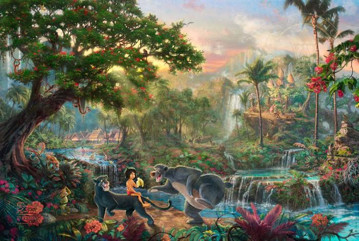 Thomas Kinkade DisneyThe Jungle BookGiclee On Paper Artist Proof