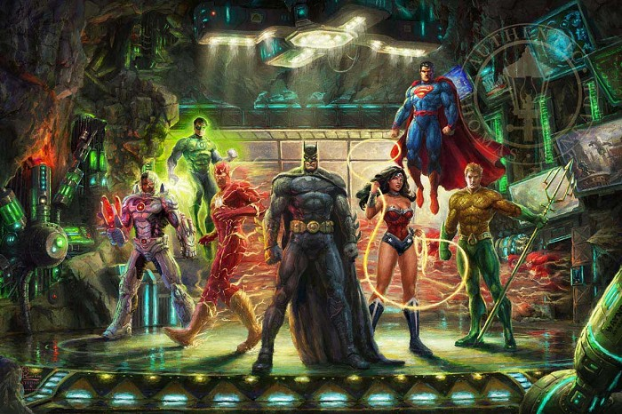 Thomas Kinkade DC Comics The Justice League Giclee On Paper Artist Proof
