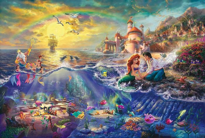 Thomas Kinkade DisneyThe Little MermaidGiclee On Paper