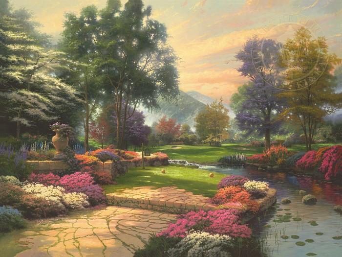 Thomas KinkadeLiving WatersGiclee On Canvas