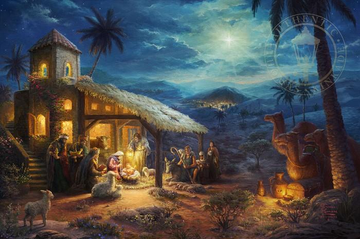 Thomas KinkadeThe NativityGiclee On Paper Artist Proof