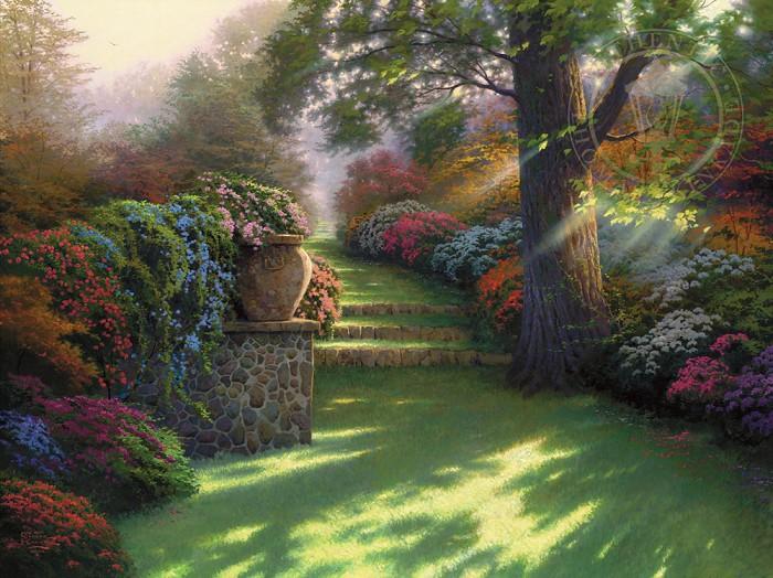 Thomas KinkadePathway to ParadiseGiclee On Canvas Artist Proof