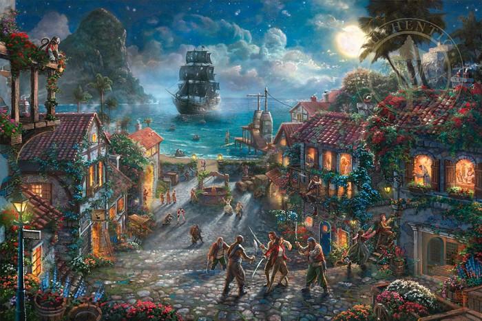 Thomas Kinkade DisneyPirates of the CaribbeanGiclee On Canvas
