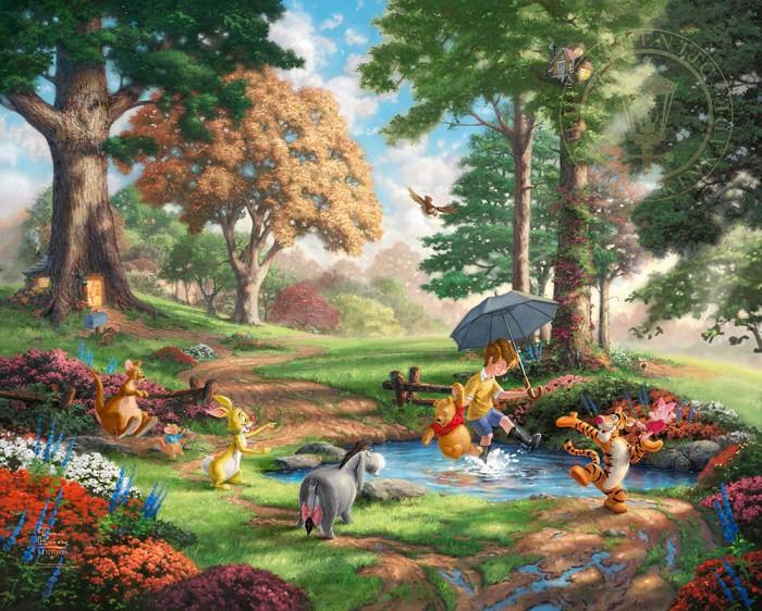 Thomas Kinkade DisneyWinnie The Pooh IGiclee On Paper