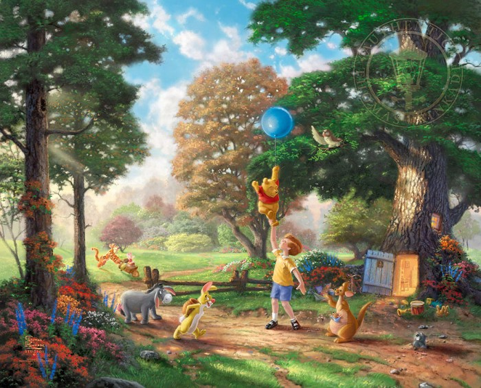 Thomas Kinkade DisneyWinnie The Pooh IIGiclee On Paper