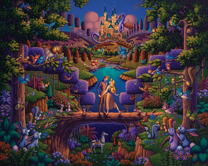 Thomas Kinkade Disney Sleeping Beauty - The Power of Love Giclee On Paper Artist Proof
